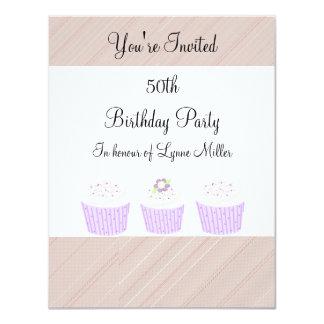 50.o Cumpleaños Invitación 10,8 X 13,9 Cm