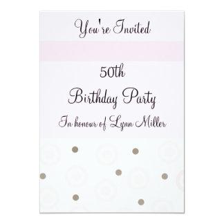 50.o Cumpleaños Invitación 12,7 X 17,8 Cm