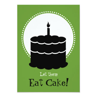 50.o cumpleaños - Margarita contra la torta Invitación 12,7 X 17,8 Cm
