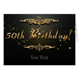 50.o Cumpleaños Tarjeta