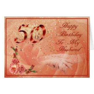 50.o cumpleaños tarjeta de felicitación