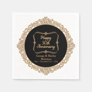 50.o Decoración de la recepción del aniversario de Servilletas De Papel