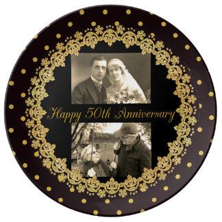 50.o decorativo personalizada aniversario feliz plato de porcelana