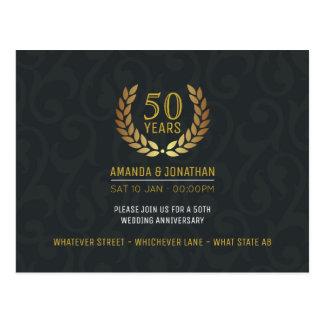 50.o El aniversario de boda de oro añade la foto Postal