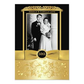 50.o El aniversario de boda invita Invitación 12,7 X 17,8 Cm