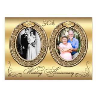 50.o El aniversario invita a 2 Invitación 12,7 X 17,8 Cm