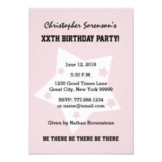 50.o El cumpleaños protagoniza el NEGRO BLANCO Invitación 12,7 X 17,8 Cm