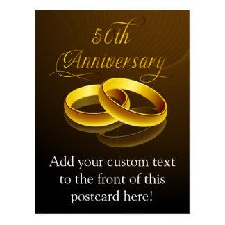 50.o Escritura del oro del aniversario el | Postales
