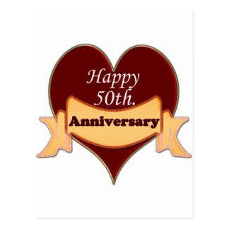 50 o feliz Aniversario Postal