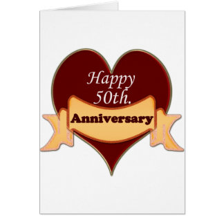 50.o feliz. Aniversario Tarjetón