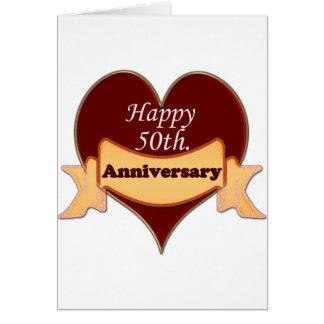 50.o feliz. Aniversario Tarjeta De Felicitación