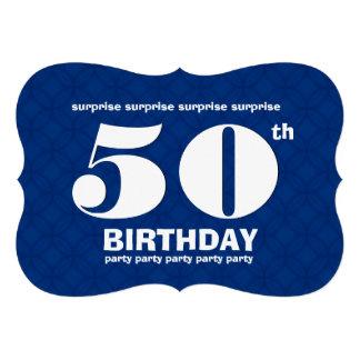 50.o Fiesta azul y blanca v003C de la SORPRESA de  Invitación