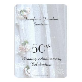 50.o Fiesta de aniversario del boda, cordón del Invitación 12,7 X 17,8 Cm