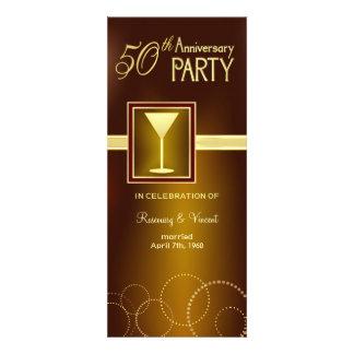 50.o Fiesta de aniversario del boda - monograma Invitacion Personalizada