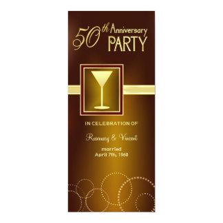 50.o Fiesta de aniversario del boda - monograma Invitación 10,1 X 23,5 Cm