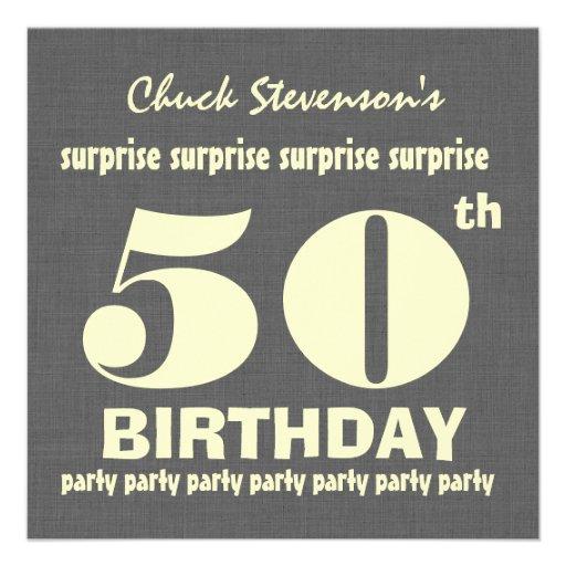50.o Fiesta de cumpleaños de la SORPRESA GRIS y MA Invitaciones Personalizada
