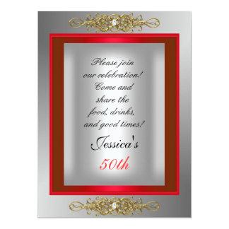 50.o Fiesta de cumpleaños de plata roja