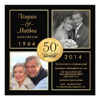 50 o Fiesta de sorpresa del aniversario de boda de Invitación Personalizada