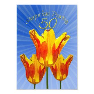 50.o fiesta de sorpresa del cumpleaños invitación 12,7 x 17,8 cm