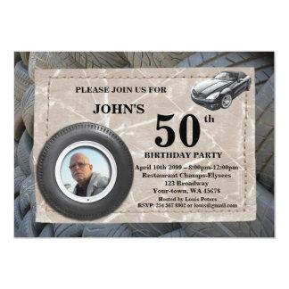 50.o, foto del hombre del cumpleaños, cualquier invitación 12,7 x 17,8 cm