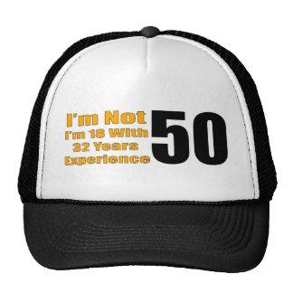 Gorras para el 50 aniversario de papá