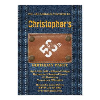 50.o, hombre de la fiesta de cumpleaños, estilo invitación 12,7 x 17,8 cm