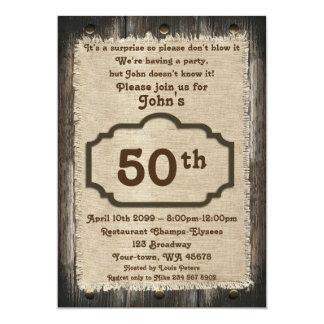 Tarjetas de 50 cumplea os invitaciones personalizadas - Cumpleanos 50 anos hombre ...