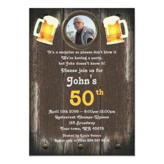 50.o, hombre del cumpleaños, hombre de fiesta, invitación 12,7 x 17,8 cm