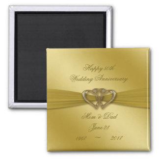 50.o imán de oro clásico del aniversario de boda