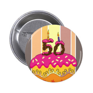 50.o Insignia del Pin del cumpleaños para hacer ju