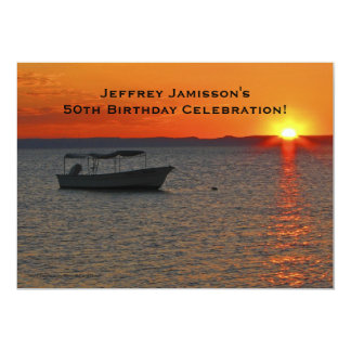 50.o Invitación de la celebración del cumpleaños,
