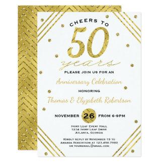 50.o Invitación de la fiesta de aniversario, falso