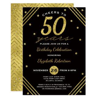 50.o Invitación de la fiesta de cumpleaños,