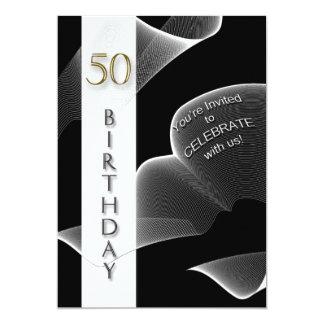50.o Invitación de la fiesta de cumpleaños -