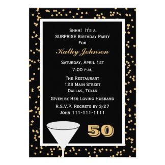 50 o Invitación de la fiesta de cumpleaños de la