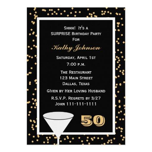 50.o Invitación de la fiesta de cumpleaños de la