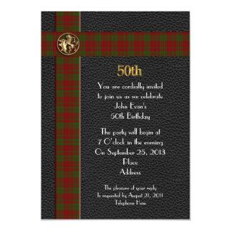 50.o Invitación de la fiesta de cumpleaños para el