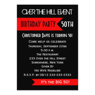 50.o Invitación de la fiesta de cumpleaños sobre