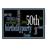 50.o Invitación de la fiesta de cumpleaños Tarjetas