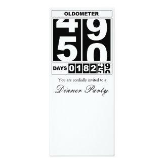 50.o Invitación de Oldometer del cumpleaños
