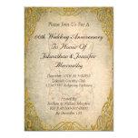 50.o Invitación del aniversario de boda Invitación 12,7 X 17,8 Cm