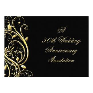 50 o Invitación del aniversario de boda