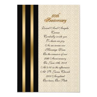 50.o Invitación del aniversario elegante