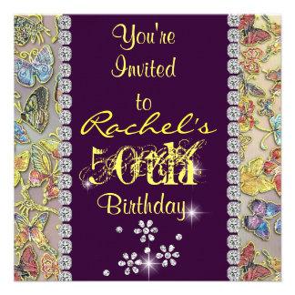 50 o Invitación del cumpleaños de las mujeres AMAR