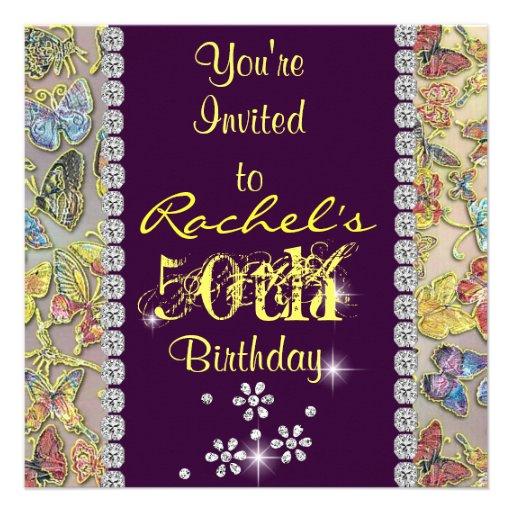 50.o Invitación del cumpleaños de las mujeres AMAR