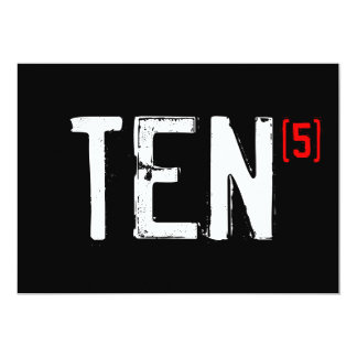 50.o Invitación del cumpleaños - diez (épocas 5!)