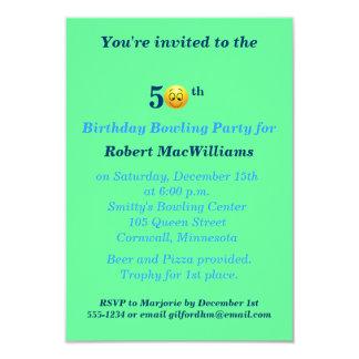 50.o Invitación feliz del fiesta de la cara del Invitación 8,9 X 12,7 Cm