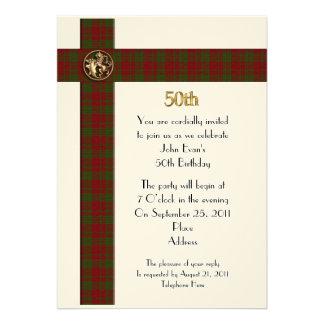 50.o Invitación formal de la fiesta de cumpleaños