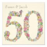 50.o Invitación personalizada del aniversario de