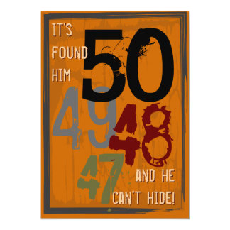 50.o Invitación sucia del fiesta de la cuenta